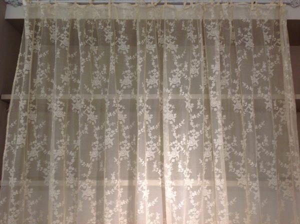 L'Atelier 17 tenda pizzo Ciel beige 140x290
