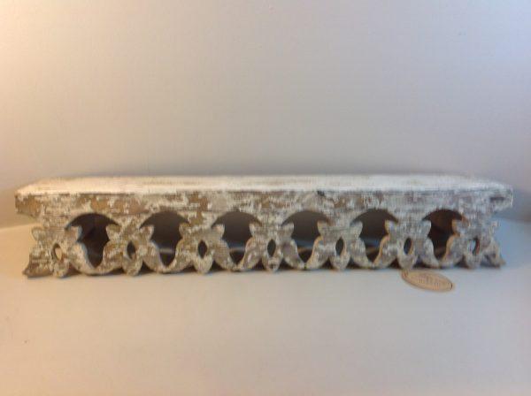 Blanc Mariclò Mensola da muro in legno beige decapata
