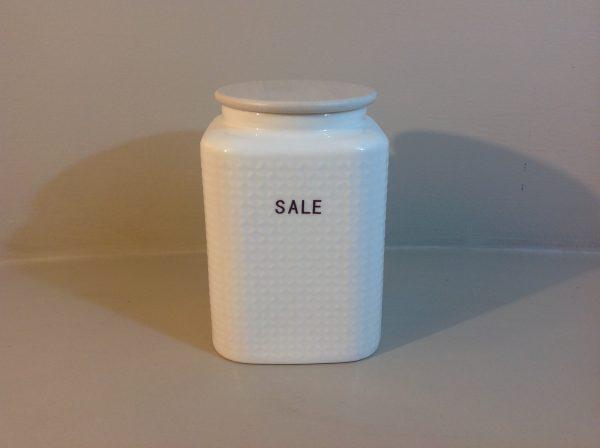 Brandani Barattolo in porcellana bianca sale