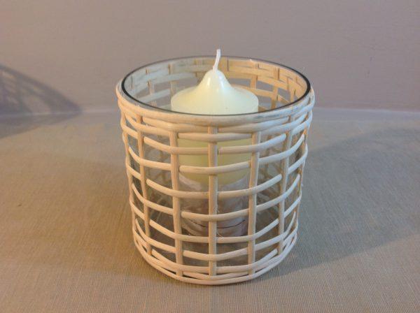 Hoff Interieur Porta candela in vetro e bambù Hoff
