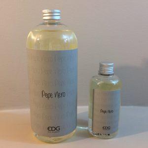 EDG (Enzo De Gasperi) Ricarica da 1 litro per profumatori con bastoncini Pepe nero