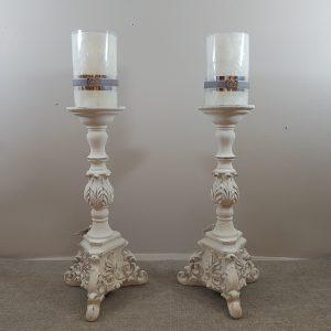 Coccole di Casa Candeliere alto in resina lavorazione barocca