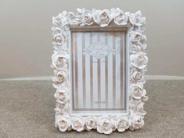 Coccole di Casa Porta foto rettangolare in resina con bordo rose 10x15
