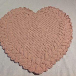 Blanc Mariclò Tovaglietta in boutis rosa a cuore