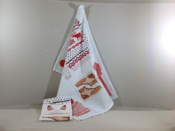 Blanc Mariclò Asciughino da cucina fantasia montagna