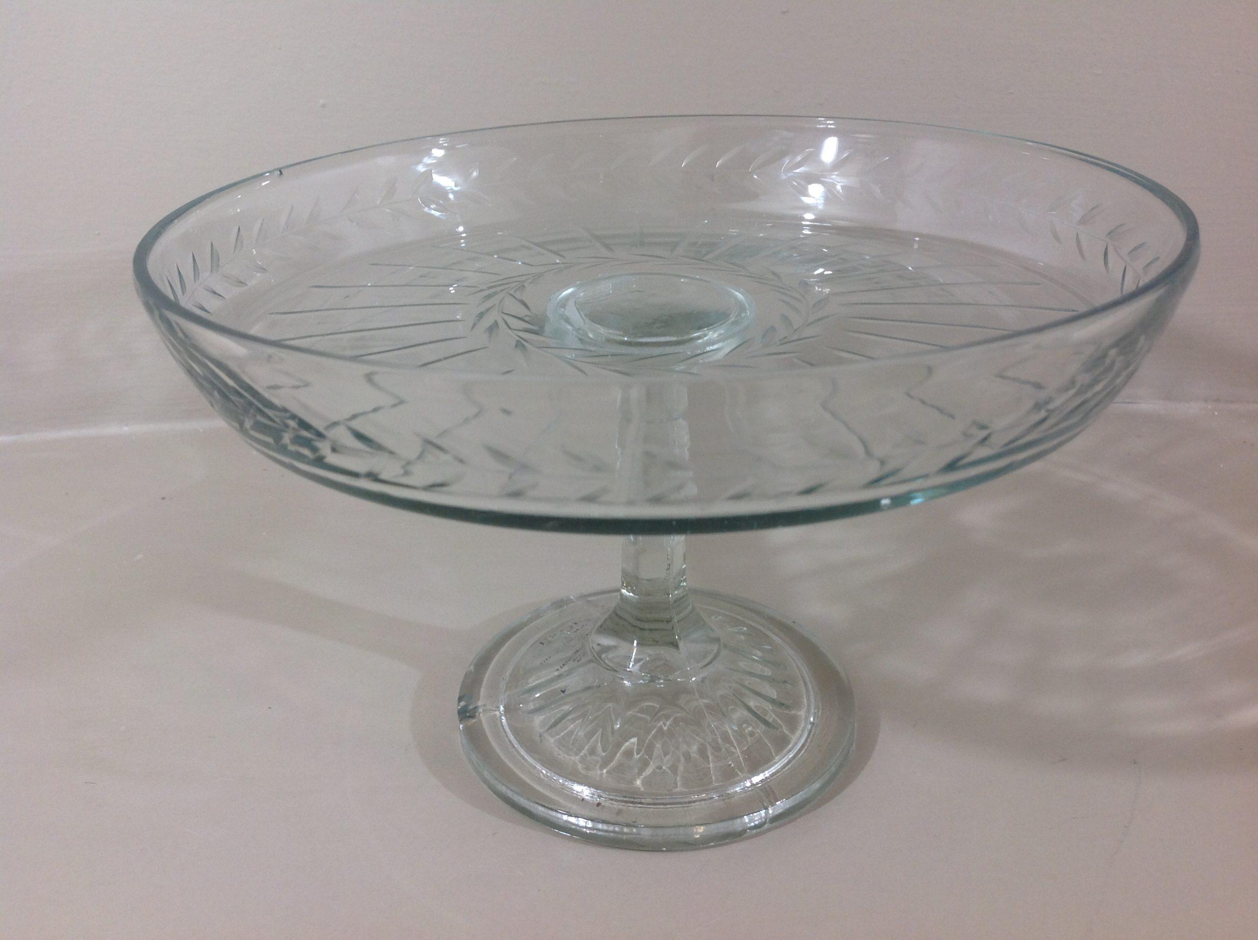 Preziosa Luxury | Alzatina in vetro intagliato | Shabby Chic