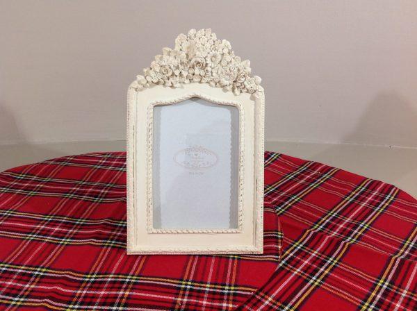 Angelica Home & Country Cornice porta foto verticale con fiori