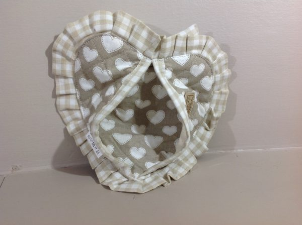Angelica Home & Country Guanto beige con fiocco