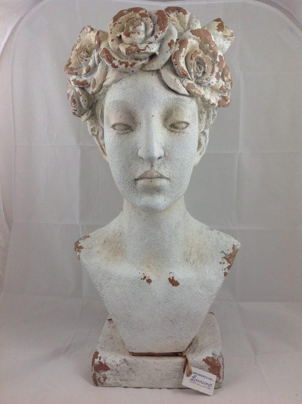 Lorenzongift Busto donna porta fiori o piante in resina grigia