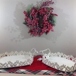 Coccole di Casa Vassoio con bordo e manici panna