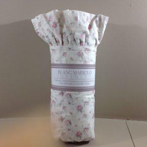 Blanc Mariclò Parure copripiumino in cotone a roselline rosa