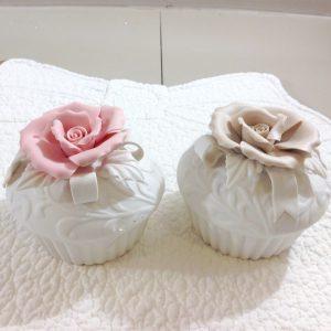 Coccole di Casa Scatolina in porcellana con led e macaron