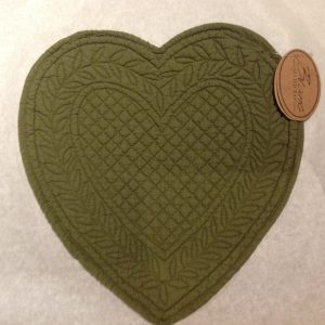Blanc Mariclò Boutis a cuore piccolo verde muschio