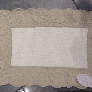 Blanc Mariclò Tovaglietta rettangolare in boutis bicolore