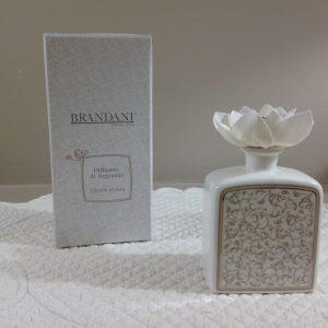 Brandani Flacone per profumazioni in porcella con fiore Riccioli di fata