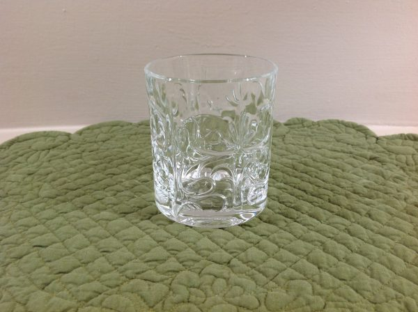 Brandani Set 4 tumbler Royal Crystal glass lavorati