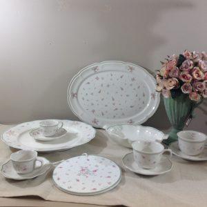 Brandani Piatto da portata ovale in porcellana serie Nonna Rosa