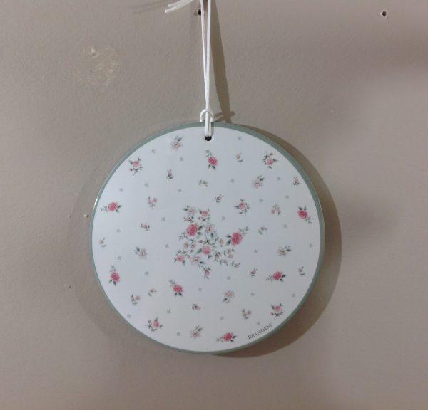 Brandani Sotto pentola rotondo in ceramica con sughero Nonna Rosa