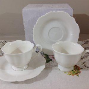 Brandani Piatto ovale piccolo bianco latte in bone china serie meringa