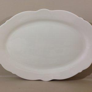 Brandani Piatto ovale grande in bone china serie Meringa