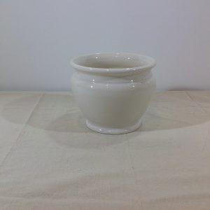 Bruco porta vaso ceramica bianca piccolo