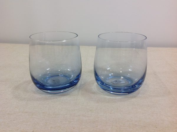 Preziosa Luxury Set 2 bicchieri in cristallo azzurroblu sfumato