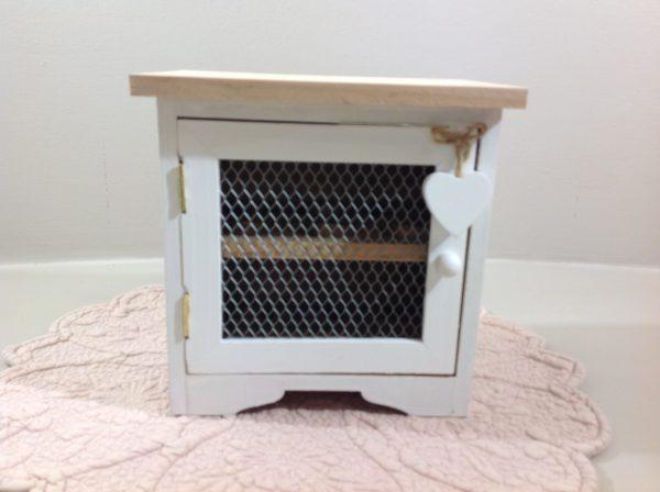 Clayre & Eef Casetta porta uova in legno naturale con galline