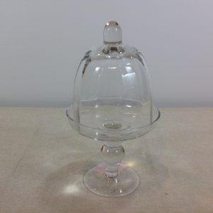 Antic Line Alzatina in vetro ottico con cloche