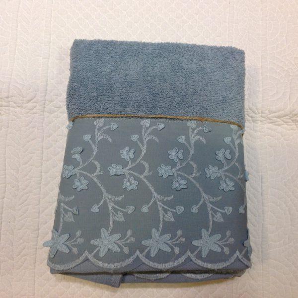 L'Atelier 17 coppia di asciugamani in spugna azzurri Chassè
