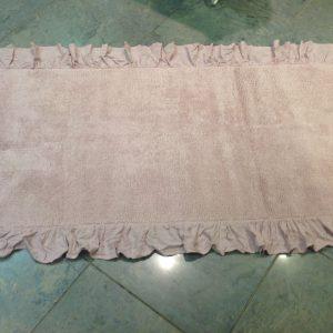 Nuvole di Stoffa Tappetino rosa con frappa 60x130
