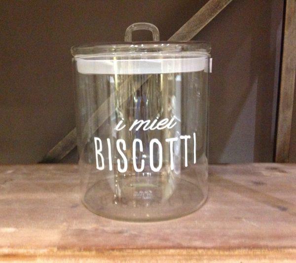 Simple Day Barattolo in vetro ermetico con scritta in bianco I miei Biscotti