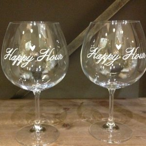 Simple Day Set 2 calici Baloon Happy Hour
