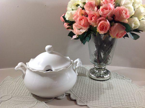Brandani Zuppiera in porcellana bianca