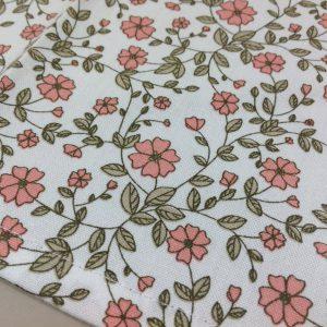 Nuvole di Stoffa Asciughino in cotone fiorellini rosa serie Sophie