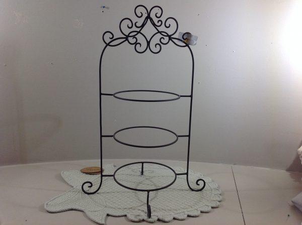 Clayre & Eef Porta piatti x 3 in ferro scuro