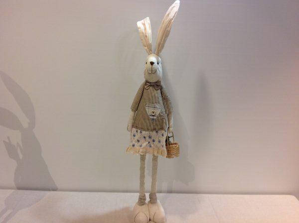 Coniglio in stoffa con cartello welcome con gambe estensibili