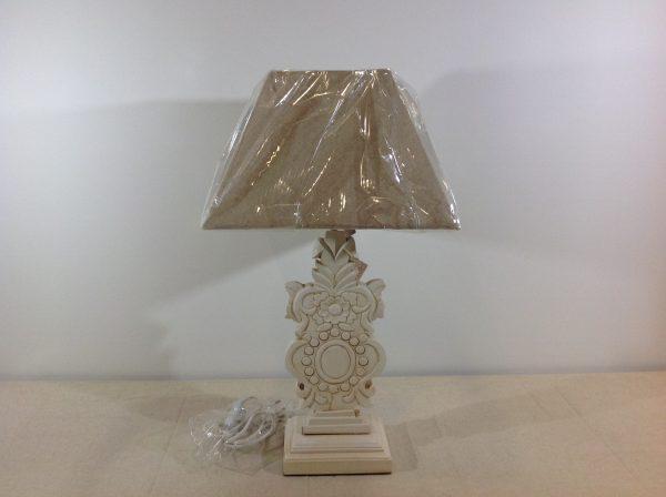 Antic Line Lampada completa panna decapata in resina