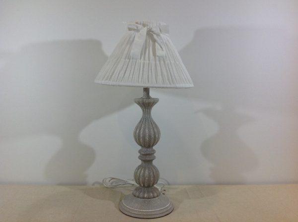 Antic Line Lampada grigia decapata bianca completa di cappello