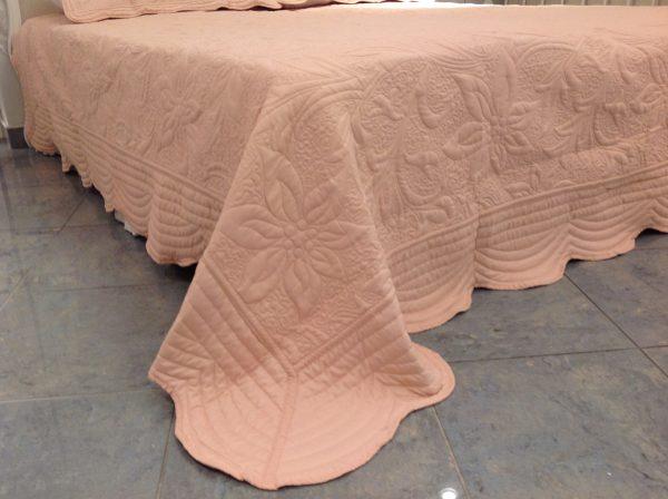 L'Atelier 17 Trapuntino Giglio rosa matrimoniale con federe