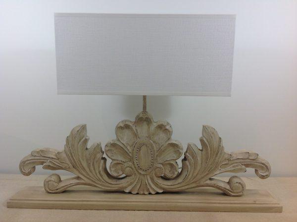 Amadeus Cappello rettangolare per lampada in lino bianco
