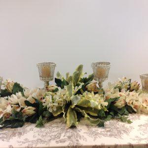 Blanc Mariclò Porta candela in ferro panna decapato