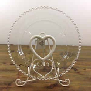 Amadeus Leggio reggi piattolibro in ferro bianco con cuore