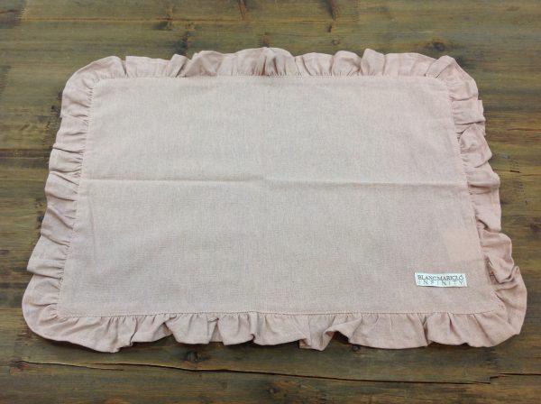 Blanc Mariclò Tovaglietta con galletta rosa antico