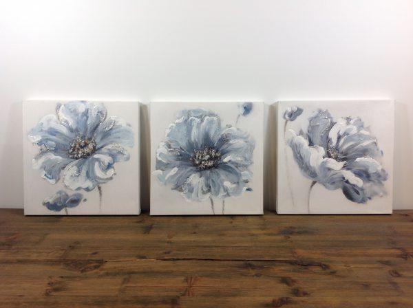 Lorenzongift set di 3 quadri su tela ad olio