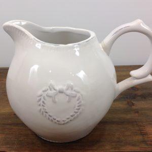 Lorenzongift Brocca in ceramica bianca con cuore
