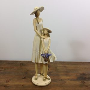 Lorenzongift Statuina in resina mamma con bimba con lavanda