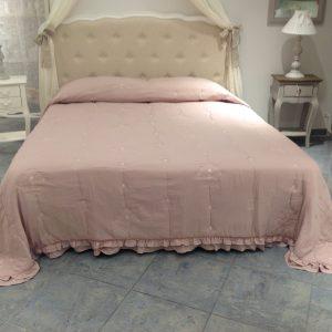 L'Atelier 17 Trapuntino Plume rosa antico matrimoniale