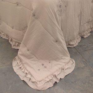 L'Atelier 17 Trapuntino beige chiaro Plume matrimoniale