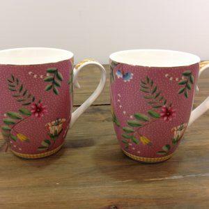 Pip Studio Set 2 mug fantasia fiori