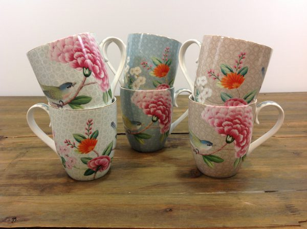 Pip Studio set 2 mug in porcellana fantasia fiori